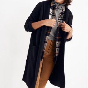 Madewell Camden Sweater-Coat Black Wool Women's L